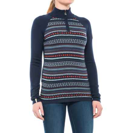 Meister Jordana Sweater - Zip Neck (For Women) in Deep Navy - Closeouts