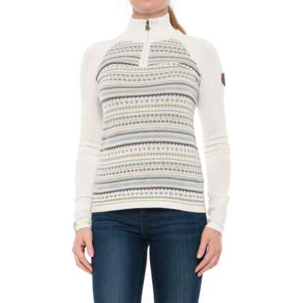 Meister Jordana Sweater - Zip Neck (For Women) in Winter White - Closeouts