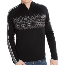 Meister Justin Sweater - Merino Wool Blend, Zip Neck (For Men) in Black/Gray - Closeouts