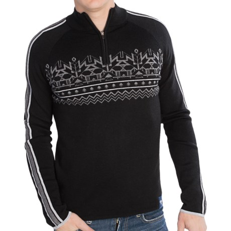 Meister Justin Sweater Merino Wool Blend, Zip Neck (For Men)