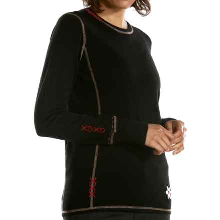 Meister Kiss Me Sweater - Stretch Merino Wool (For Women) in Black/Twig - Closeouts