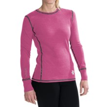 Meister Kiss Me Sweater - Stretch Merino Wool (For Women) in Rose/Heather Grey - Closeouts