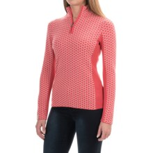 Meister Liana Sweater - Wool Blend, Zip Neck (For Women) in Persimmon/Winter White - Closeouts
