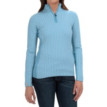 Meister Liana Sweater - Wool Blend, Zip Neck (For Women) in Robin - Closeouts
