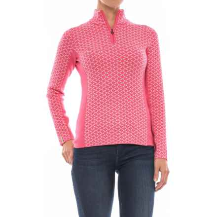 Meister Liana Sweater - Zip Neck (For Women) in Sorbet/Winter White - Closeouts