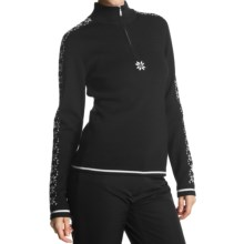 Meister Maria Sweater - Merino Wool, Zip Neck (For Women) in Black - Closeouts