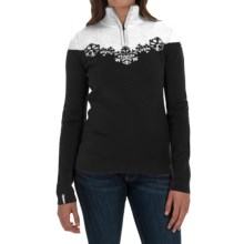 Meister Maya Sweater - Wool Blend, Zip Neck (For Women) in Black/Winter White - Closeouts