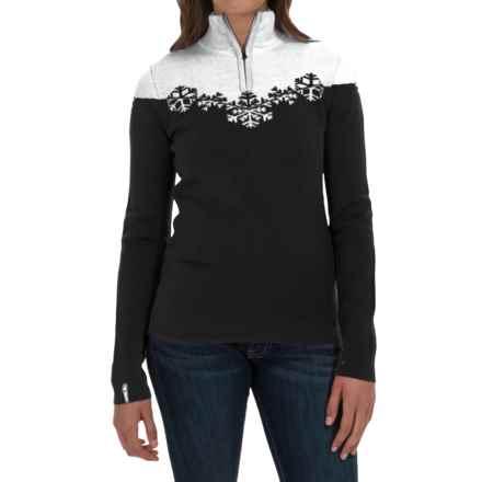 Meister Maya Sweater - Wool Blend, Zip Neck (For Women) in Black/Winter White - Closeouts