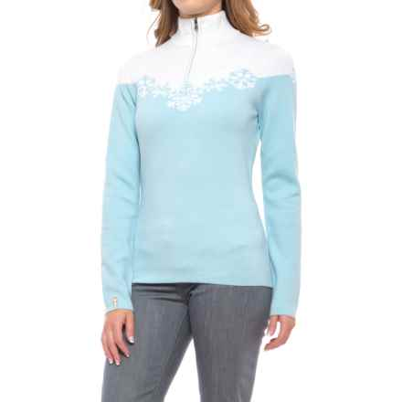 Meister Maya Sweater - Wool Blend, Zip Neck (For Women) in Glacier - Closeouts