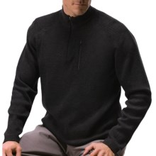 Meister Nevado Sweater - Zip Neck, Merino Wool (For Men) in Black - Closeouts