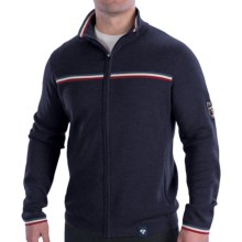 Meister Olympic Sweater - Merino Wool Blend, Full Zip (For Men) in Deep Navy - Closeouts