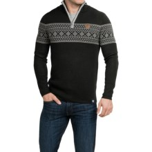 Meister Pablo Sweater - Merino Wool Blend, Zip Neck (For Men) in Black/Pearl Grey - Closeouts