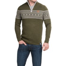 Meister Pablo Sweater - Merino Wool Blend, Zip Neck (For Men) in Olive Heather - Closeouts