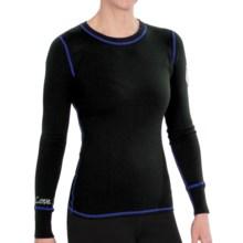 Meister Postcard Sweater - Stretch Merino Wool, Screenprint (For Women) in Black/Cobalt - Closeouts