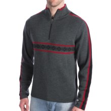 Meister Rex Jacquard Stripe Sweater (For Men) in Charcoal/Chili - Closeouts