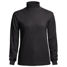 Meister Roll Neck Shirt - Combed Cotton, Long Sleeve (For Women) in Black - Closeouts
