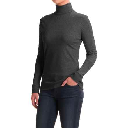 Meister Roll Neck Shirt - Combed Cotton, Long Sleeve (For Women) in Charcoal Heather - Closeouts