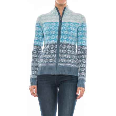 Meister Rose Sweater - Full Zip (For Women) in Denim - Closeouts