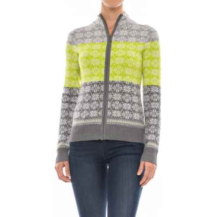 Meister Rose Sweater - Full Zip (For Women) in Heather Gray/Acid/Pearl - Closeouts