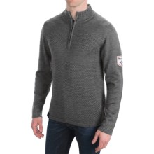 Meister Rugby Sweater - Zip Neck (For Men) in Charcoal - Closeouts