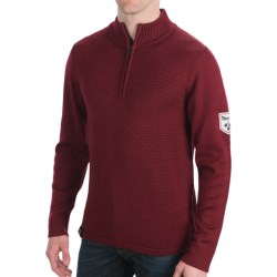 Meister Rugby Sweater - Zip Neck (For Men) in Chili
