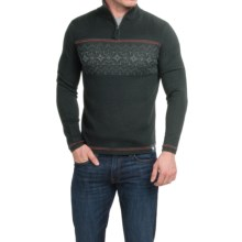 Meister Tyler Sweater - Wool Blend, Zip Neck (For Men) in Black/Heather/Chili - Closeouts