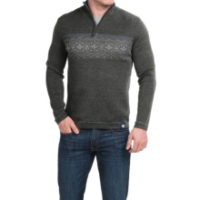 Meister Tyler Sweater - Wool Blend, Zip Neck (For Men) in Charcoal/Pearl - Closeouts