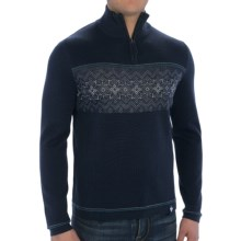 Meister Tyler Sweater - Wool Blend, Zip Neck (For Men) in Deep Navy/White/Apatite - Closeouts