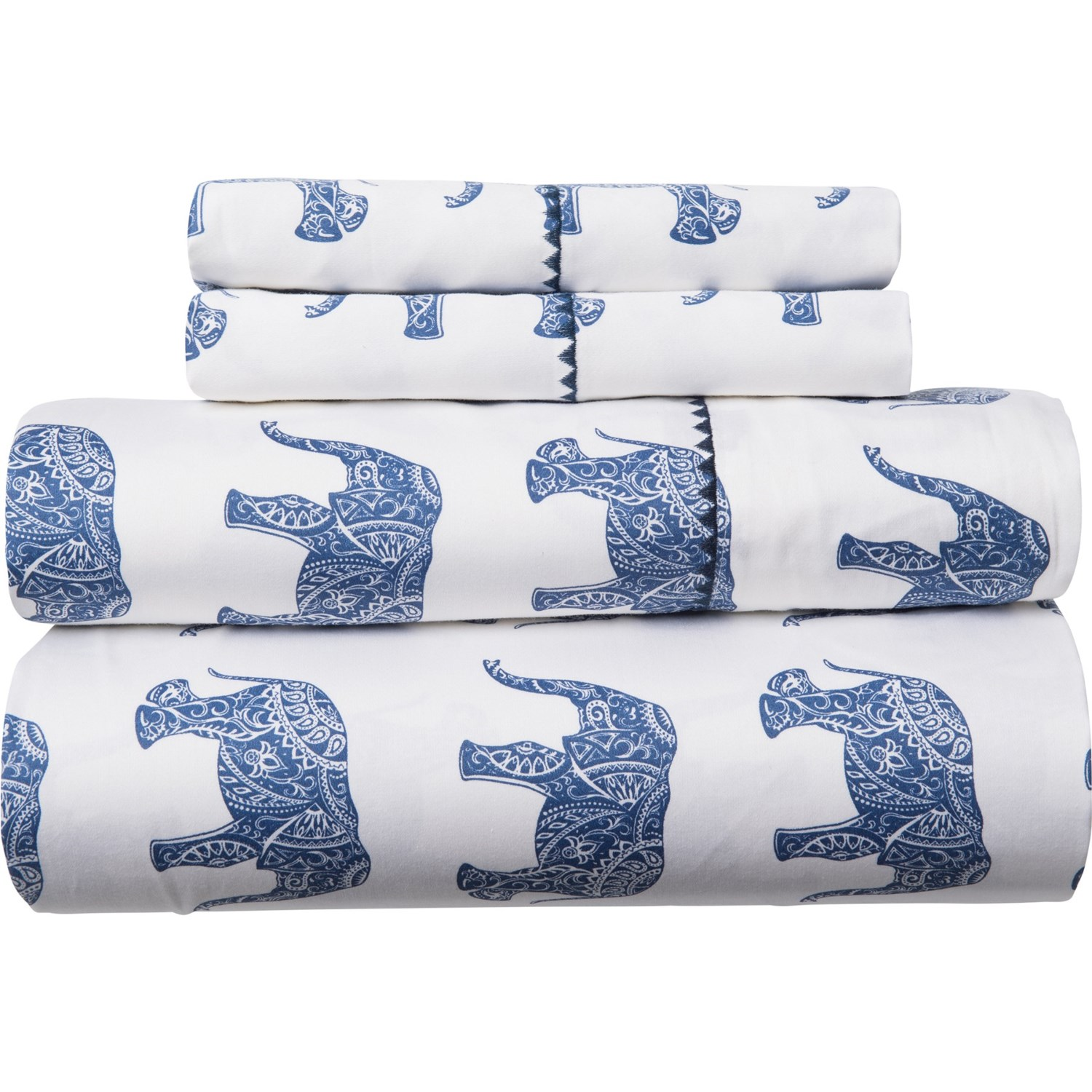 400 Tc Cotton Elephant Print Sheet Set