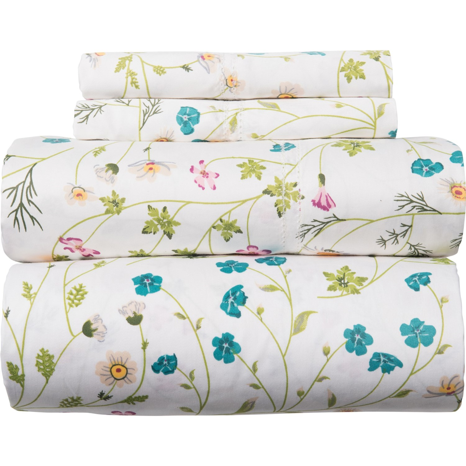 400 Tc Cotton Wildflower Sheet Set