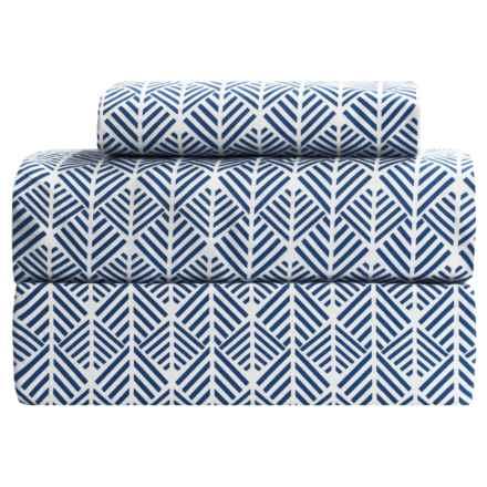 Melange Home Arrows Sheet Set - Full, 400 TC Cotton in Blue - Closeouts