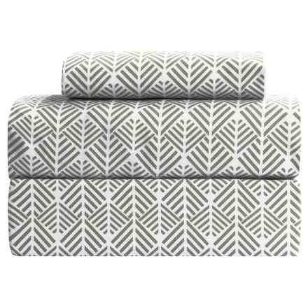 Melange Home Arrows Sheet Set - Twin, 400 TC in Grey Arrows - Closeouts
