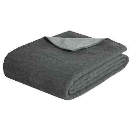 Melange Home Australian Merino Wool Blanket - King, Reversible in Grey/Charcoal - Closeouts