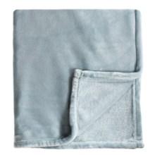 Melange Home Bliss Velvet Fleece Blanket - Full-Queen in Blue - Closeouts