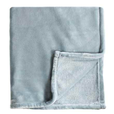 Melange Home Bliss Velvet Fleece Blanket - Full-Queen in Blue - Closeouts