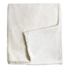 Melange Home Bliss Velvet Fleece Blanket - Full-Queen in Ivory - Closeouts