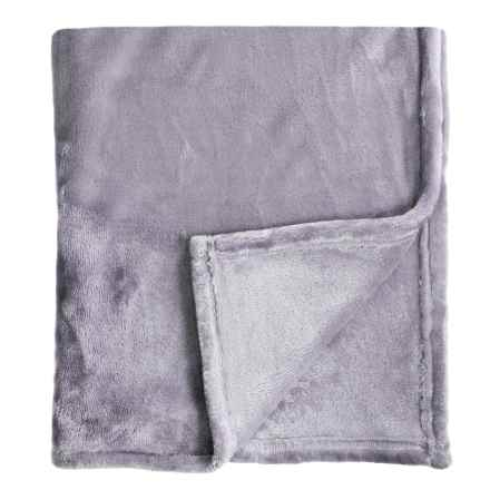 Melange Home Bliss Velvet Fleece Blanket - King in Amethyst - Closeouts