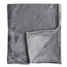 Melange Home Bliss Velvet Fleece Blanket - King in Charcoal - Closeouts