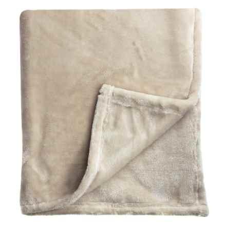 Melange Home Bliss Velvet Fleece Blanket - King in Taupe - Closeouts