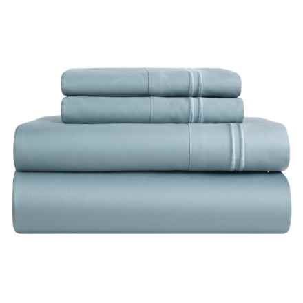 Melange Home Border-Stripe Sheet Set - King, 600 TC in Blue - Closeouts