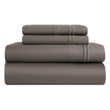 Melange Home Border-Stripe Sheet Set - King, 600 TC in Charcoal - Closeouts