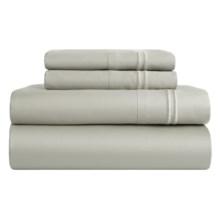 Melange Home Border-Stripe Sheet Set - King, 600 TC in Silver - Closeouts