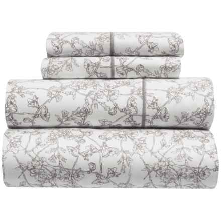 Melange Home Cherry Blossoms Sheet Set - Queen, 400 TC in Grey - Closeouts