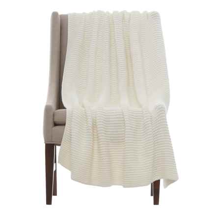 """Melange Home Chunky North Branch Throw Blanket - 50x70"""" in Natural - Closeouts"""