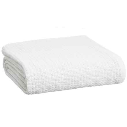 Melange Home Cross Stitch Blanket - Full-Queen in Bright White - Closeouts