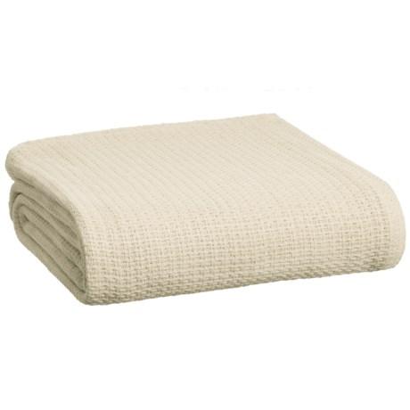 Melange Home Cross Stitch Blanket - Full-Queen in Natural Cream