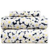 Melange Home Daisy Print Sheet Set - Twin, 400 TC, Cotton Sateen