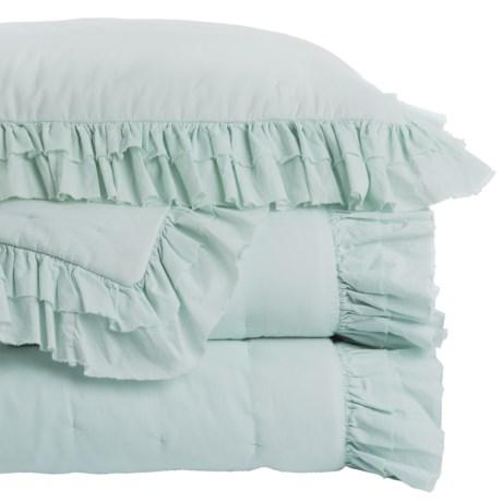 Melange Home Delilah Quilt Set - Full-Queen in Light Blue