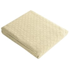 Melange Home Diamond Weave Blanket - Full-Queen, Cotton in Latte - Closeouts