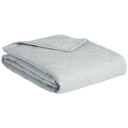 Melange Home Down Alternative Diamond Box Blanket - Full-Queen, 233 TC in Cloud Grey - Closeouts